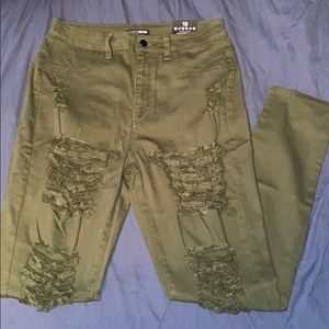 Olive Roll Out Jeans